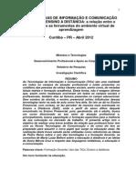(12) TICs e o EaD - Arelação Entre o Professor e as Ferramentas Do Amginte Virutual