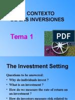 TEMA 1 Contexto Inversiones