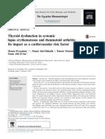 Thyroid Dysfunction in Systemic Lupus Erythematosus...2014