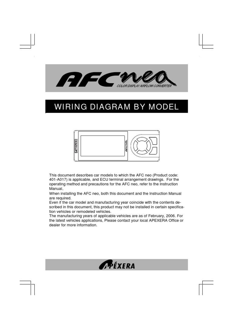 [SCHEMATICS_4PO]  Apexi AFC Neo Wiring   Throttle   Electrical Connector   Apexi Safc Wiring Diagram For Supra Mk2      Scribd