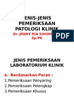 Jenis-jenis Pemeriksaan Patologi Klinik, 7-12-09