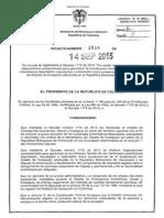 Decreto 1814 Del 14 de Septiembre de 2015
