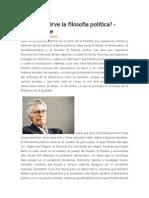 Para Qué Sirve La Filosofía Política (Mario Bunge)