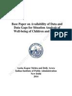 Base Paper on Data Gaps Child Women11sept14