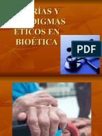 Teorías y Paradigmas éticos en Bioética
