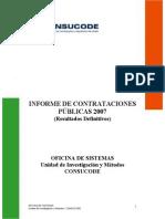 Informe Contrataciones Publicas 2007 Resultados Definitivos