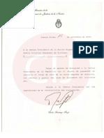 La Corte comunica que el Dr. Carlos Fayt ha presentado su renuncia al cargo de Juez de la Corte