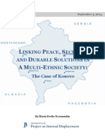 Linking Peace Security and Durable Solutions in a MultiEthnic Societythe Case of Kosovo September 5 2014