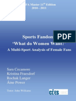 Fifa Master Year 2011 - Female Fans - Research Paper