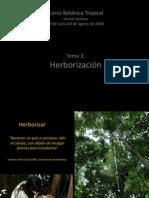 Tema 3. Herborizacion