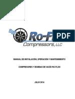 Manual de Instalación, Operación y Mantención Compresor de Aire