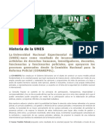 Historia de La UNES