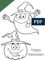 Happy Halloween Coloring Sheet