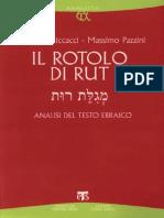 Niccacci-Pazzini, Il Rotolo Di Rut. Analisi del testo ebraico, Edizioni Terra Santa