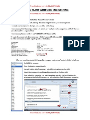TUTORIAL - HOW TO FLASH WITH ODIS ENGINEERING pdf