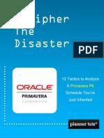 PlannerTuts Decipher the Disaster 12 Primavera p6 Analysis Tactics