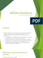 Estadísticas - variables, distribuciones de frecuencia e histograma