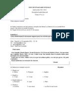 Test de Evaluare Iniţialăla Limba Franceza