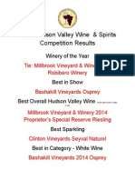 2015 Hudson Valley Wine & Spirits Competition Results