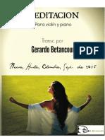 MEDITACION. Violín y piano. Transc. por Gerardo Betancourt.