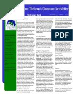 my classroom newsletter september 2015