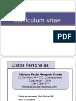 Curriculum Fabiana Morgado