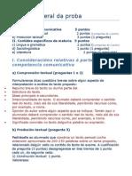 Estrutura xeral da proba de Lingua Galega