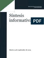 Síntesis Informativa -15 septiembre2015