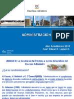 Presentacion III Adm. 2015 - 3a Clase