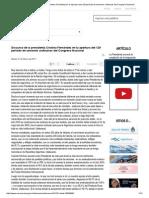 Discurso de La Presidenta Cristina Fernández en La Apertura Del 129 Período de Sesiones Ordinarias Del Congreso Nacional