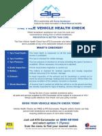 Free Vehicle Health Check