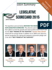 2015 Taxpayers League of Minnesota Scorecard