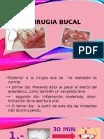 cuidados postoperatorios en cirugia oral