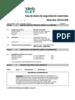 MSDS Nitro-Sul 2040S Spanish