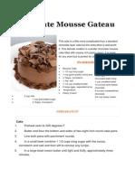 Chocolate Mousse Gateau