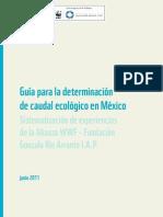 Guia para la determinación del Caudal Ecologico en Mexico