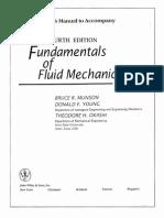 Solution Manual - Fundamentals of Fluid Mechanics (4th Edition)