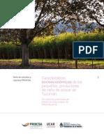 Características Socioeconómicas de Los Pequeños Productores de Caña de Azúcar de Tucumán