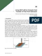 Matlab Heat Transfer Extrusion