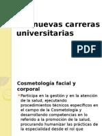 Las Nuevas Carreras Universitarias