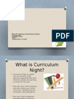 curriculum night- 2015