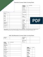 aaec writing rubric score sheet