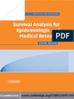Survival Analysis for Epidemiologic