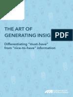 The Art of Generating Insight_Euromonitor_2012_Jan