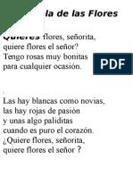 La Pérgola de Las Flores Letra Canciones