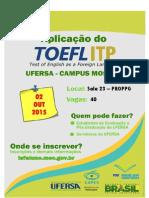 Divulgação - ToEFL - Mossoró
