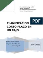 Planificacion Corto Plazo