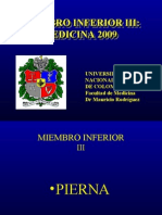 MIEMBRO INFERIORIII MEDICINA2009