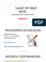 Sesion 1 - Lenguaje de Bajo Nivel - Intro