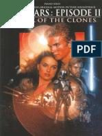 John Williams full sheet music Star Wars Episode II Attack of the Clones Lite